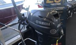 """2015 Yamaha Marine F20ELH Only 20 Hours This low hours 2015 F20ELH Yamaha Is at our Coos Bay location! Its a tiller, electric and a long 20"""" shaft. All for just $3195! Stock number: 1055426"""