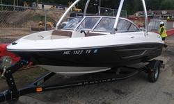 Showroom quality boat...comes with full tower and board rack for family water sports. Huge savings...year clearance. This boat shows very well, needs nothing but water. Will look at all reasonable offers. Trades considered. Engine(s): Fuel Type: Gas