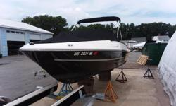 Just in on trade is this 2016 Bayliner bow rider powered with a Mercury 115 hp 4 stroke outboard and packaged with a 2018 Venture bunk trailer.This model is equipped with a cockpit cover, bow cover, ski tow pylon, stainless steel upgrade package, barrel