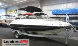 2016 Bayliner 190 DB OB WT CLEAN 2016 BAYLINER 190 DECK BOAT WITH ONLY 16 ENGINE HOURS AND FACTORY ENGINE WARRANTY THRU 5-22-2021!  A 150 hp Mercury 4-stroke EFI outboard w/power trim powers this loaded fiberglass deckboat.   Optional