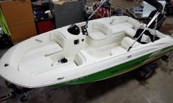2016 Bayliner Element XL with a 115ELPT Mercury four stroke and trailer. Includes cover, bimini top and ski tow bar. For additional information call us today at 800-875-2620 and select the location nearest you or view Michigan's largest selection of boats
