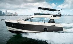 """""""Tango"""" is a exceptionally well-maintained Beneteau Monte Carlo 4 that is loaded with factory options. Her twin Volvo IPS500's have under 200 hours. If you are in the market for a two stateroom/2 head flybridge cruiser with remaining warranty, make sure"""