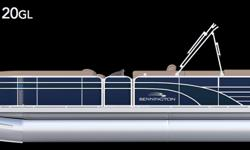 Offered for sale is a Pre-Loved 2016 Bennington 2075 GL by Rivett's Marine Recreation & Service, Inc. In Old Forge, NY. Exterior Color - Regatta Blue Canvas - Regatta Blue Interior Upholstery Color - Java with Monochrome accent Flooring - Designer