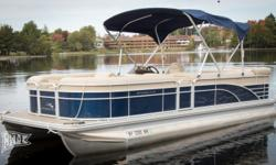 Offered for sale is a Pre-Loved 2016 Bennington 2274 GL by Rivett?s Marine Recreation & Service, Inc. In Old Forge, NY. Exterior Color - Regatta Blue with N/A accent Canvas - Regatta Blue Interior Upholstery Color - Java with Monochrome accent Flooring -