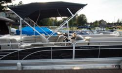 Offered for sale is a Pre-Loved 2016 Bennington 2375 GCW by Rivett's Marine Recreation & Service, Inc. In Old Forge, NY. Exterior Color - Midnight Black with N/A accent Canvas - Midnight Black Interior Upholstery Color - Napa Beige with Ivory