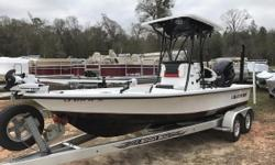 IN STOCK NOW!! 2016 Blazer Boats 2200 Incredible deal barely used Trade!!! $65K Brand new!! FINANCING AVAILABLE!! The Blazer Bay 2200 is the full liner version of the Blazer Bay 2170. It has a huge step-up front casting deck with lockable storage. Some of