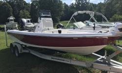 """IN STOCK NOW!! 2016 Blue Wave Boats 2200 PUREBAY Low Hours!!! Under 50 Hours! Includes the below! Garmin GPS and Fish Finder JL Audio Receiver with 4 JL Audio 6.5"""" Speakers Minn Kota I pilot Terrova 112lb Cyclone seating"""