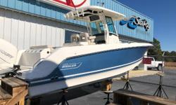 Bought new off the showroom floor in January 2018.  No bottom paint, kept on hoist 50 hours on twin Verados Tricked out new Raymarine electronics **Preliminary listing- more photos to come Nominal Length: 28' Length Overall: 28' Engine(s): Fuel Type:
