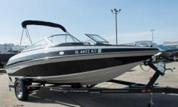 This gorgeous and lightly used bowrider just arrived to us! Here's another Crownline 18-foot beauty that's loaded with bigger-boat features like stainless steel windshield supports along with stainless steel hardware and cup holders. Add a Bluetooth ready