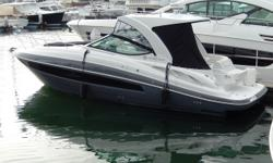 This 2016 Used Cruiser's 350 Express is a great buying opportunity with many fishing upgrades and low hours. The twin, 8.2L Mercruiser V8's make this a very fast and manuverable boat. The previous owner installed a bait tank on the swim step with a raw