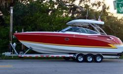 New to the market! Boat has only 33 hrs, comes with a trailer, and has many options. Pictures and more info coming soon. Nominal Length: 35' Max Draft: 3.3' Engine(s): Fuel Type: Other Engine Type: Stern Drive - I/O Draft: 3 ft. 3 in. Beam: 10