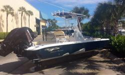 (LOCATION: Ocean Reef Club, Key Largo FL) The Glasstream 260 TE is a no-nonsense, high-quality, center console, fishing machine. She has a large open cockpit with fishing room fore and aft with all the amenities needed for successful fishing. She is