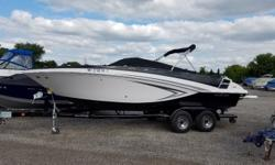 2016 Glastron GT245 with a 300hp dual prop Volvo Penta drive and custom tandem axle trailer. manufacturer options include swim platform mats, porta potti with pump out, upgraded stereo, extended swim platform, enclosed head with sink, mat dune grass,