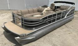 2015 Sanpan deluxe Pontoon with 90hp Honda. If you looking for the best, you've found it. Amazing comfort, amazing quality, amazing fit/finish, amazing options. Power Bimini top, deluxe boarding ladder, Garmen gps, Sony sound with Sirius, LED