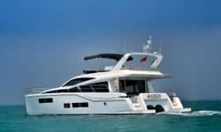Brand New Model for North America! Demo model now available for your inspection in Jupiter, Florida From the drawing board of world renowned British boat designer Bill Dixon comes the first in our PowerCat series: The Hudson 48. Powerful,safe and