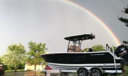 2016 Sportsman 231 Heritage Platinum This 2016 Heritage 231 comes powered by a Yamaha VF250XA (105hrs) Jet Black hull sides and white hull bottom. The platinum pkg includes Hardtop with LED lighting Jet Black underside of top color Black powder coating