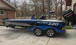 2016 Nitro Z20 -Mercury Optimax 250hpw/94hrs (Warranty through Feb. 2021) -MotorGuide X5 80lb 24v trolling motor -Lowrance HDS 9