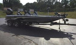 Lots of really nice equipment including Helix 9 & 10 at the dash and a helix 10 di at the bow. Minnkota ultrex 112 I-pilot, 4 bank charger, passenger console, keel guard and much more. Call our Sales team for more details!! 269-372-2277   If you want