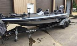 Fully Loaded - Call Today For More Details! Comes equipped with (2) Power Pole Blades, (2) Humminbird Helix 12 SI, MotorGuide 36V trolling motor, custom wheels, and more! Bred to be a champion, the NITRO Z21 is our most advanced bass boat ever. We've