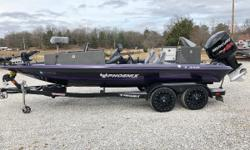 """Humminbird 1199's on bow & Console, Manuel Jack Plate, 112 36 volt Fortrex, Travel Cover, 17"""" Custom wheel upgrade, Gator Hyde Trailer, 98 Hours, Platinum warranty until 2023. One Owner! The Phoenix 721 Pro XP has risen to redefine quality,"""