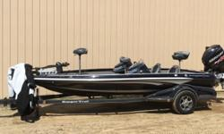 Just In!! Tournament Ready Ranger with all the fixins. Twin Talons, 2-helix 10's, cover and jackplate. The Z519c Comanche® is packed with high performance stealth. Shod with 225 horses, the advanced design is engineered with a broad 95 beam, 8 rod boxes,