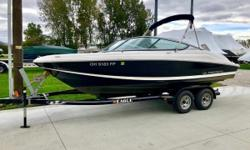 Regal's 2000 ES was tailored to the family who wants to do it all on the water! Stainless ski tow, bimini top, ample seating, and fun for all are just a select few features of this well kept bowrider. One Owner Since New Freshwater Only Transom Walk