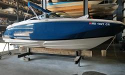 Great boat in like new condition. This boat is a must see! Beautiful blue color! Only 45 hours on this boat! Great performance sport boat with a deck boat interior layout!Follow the link to see the review from BoatTest.com
