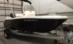 Only 3.9 hours on this like new Robalo R160. Powered with a 90 hp Yamaha. Boat is equipped with larger 18 gallon gas tank. Like new boat at a used price. Trades considered DECK FENDER W/LINES ELECTRIC BATTERY BATTERY SWITCH ENGINE BILGE PUMP HOUR METER
