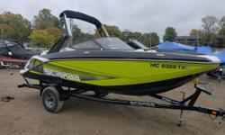 Only 30 Hours on the engine this boat is like new. Owner kept this boat meticulous. Enjoy the 360 degree maneuverability of a Jet boat with no worries of a prop. Snap in and out carpet, Wake Tower with built in bimini, Trailer, 250 Rotax Engine and
