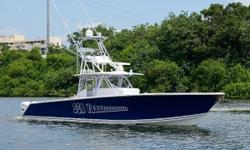 This 2016 45 Sea Hunter, is fisherman's dream, the boat has an open lay out, allowing for maximum fishing space, but also has comforts that make a day out cruising equally enjoyable. The boat is powered by quad 400 Mercury's with 1375 hours, serviced
