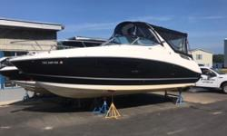 Sea Rays 280 Sundancer is a fantastic choice for a weekend getaway! This boat has lots of amenities and still a great size for water sports and day boating. It has a MerCruiser 6.2L 300 HP Bravo 3 with 356 hours of fresh water use. It comes equipped with