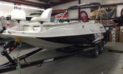 Mercruiser 4.5L, Superstar package, fish package, swim platform, lighted cupholders, water system, speaker lights, snap in carpet, cockpit cover, bimini top Hull color: Black/White Standard features: Some of the standard features are full fiberglass