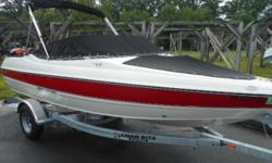 THIS PRISTINE UNIT HAS THE 135HP I/O OUTDRIVE BY MERCRUISER, GALVANIZED TRAILER, FULL COVER SET, EXLELLENT INSIDE AND OUT, OUR PERSONAL WARRANTY IS INCLUDED, SOLD SERVICED AND STORED RIGHT HERE! WE FINANCE FOR YOU TOO!