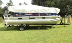 2016 Tracker Marine Sun Tracker Party Barge 18 DLX 2016 Tracker Marine Sun Tracker Party Barge 18 Pontoon in great condition 18 feet in overall length Equipped with a 60hp Mercury ELPT motor Currently with approximately 20 hours on it. Comes with.- -