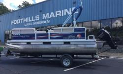 2016 Sun Tracker PARTY BARGE® 18 DLX 20' Sun Tracker PB 18 With A Mercury 60 HP EFI 4 Stroke Simply statedthe PARTY BARGE® 18 DLX is built for fun. Whether with family or friends (or both, since its big enough for a crew of nine), this pontoon boat comes