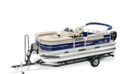 PRICE INCLUDES A MERCURY 40ELPT CT Simply stated–the PARTY BARGE 18 DLX is built for fun. Whether with family or friends (or both, since it's big enough for a crew of nine), this pontoon boat comes standard with all the amenities you need to