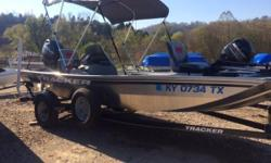 Check out this Pre-owned 2016  TRACKER® Pro 170!! It is in excellent condition with less thatn 10 hours on the motor. It also has Mercury Platinum Protection extended motor warranty until 01/21/2024! It is a value-packed aluminum fishing