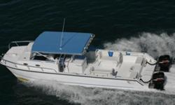 The excellent weekend fishing machine with dual Suzuki 300's, with less than 85 hrs, Honda generator, air-conditioned cuddy cabin and a large fishing platform. Nominal Length: 36' Length Overall: 35.8' Max Draft: 3' Engine(s): Fuel Type: Other Engine
