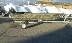 2016 War Eagle 436 Boat, motor and trailer Nominal Length: 20' Length Overall: 20' Engine(s): Fuel Type: Other Engine Type: Outboard Beam: 1 ft. 0 in. Stock number: 15047