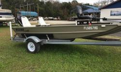 New Minn Kota Hand Control Trolling Motor, 2 Bank Battery Charger, Tach and Hour Meter included. Nominal Length: 15' Length Overall: 15' Engine(s): Fuel Type: Other Engine Type: Outboard Beam: 1 ft. 0 in. Stock number: FL5057RG2