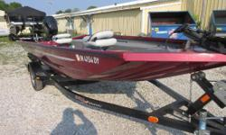 Price includes a Mercury 25ELHPTEFI 4 stroke with power tilt and trim, Bear trailer, Motorguide trolling motor, Lowrance fish locator, cover, livewell and two batteries. Used very little. Sale Price $10,999.00 Nominal Length: 16' Length