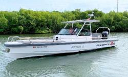 Available in Fort Lauderdale! LIKE NEW - 2017 AXOPAR 28 TT WITH BRAND NEW ROCKET TRAILER Only 74 Engine Hours with 20 Service Hours performed! Finlands Axopar Boats with a low center of gravity, low weight, and low fuel consumption. This