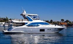 Retractable sunroof built into hardtop Yacht Controller - Operate the yacht from anywhere aboard Italian Style and Elegance Throughout SeaKeeper Stabilization LLC Owned The Only Pre Owned Azimut 66 Available West of the Mississippi in N. America or