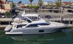 Better than New 2017 Azimut 66 Flybridge with low hours and Loaded with all the toys! NADENIKA includes Seakeeper gyro stabilization, bow and stern thrusters, Raymarine Platinum Electronics Package with FLIR Night Vision. Held in an LLC which could have a