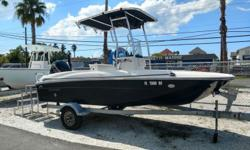 2017 Bayliner Element F18 T-Top, Power Pole GPS, and much more come and see for yourself... Very low hours..Our new Element F18 takes full advantage of our exceptionally-stable M-Hull? by combining it with a deck plan focused on fishability. This