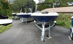 The 2017 Bayliner Element comes equipped with a bimini top and protectiveboot, MP3 AM/FM stereo system and automatic 500-gph Bilge Pump. Paired with this Bayliner Element Boat is a 75HP Mercury Outboard Engine andSingle-Axle Galvanized