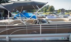 Offered for sale is a Pre-Loved 2017 Bennington 2375 GCW by Rivett's Marine Recreation & Service, Inc. In Old Forge, NY. Exterior Color - Smokey Granite with N/A accent Canvas - Smokey Granite Interior Upholstery Color - Napa Beige with Ivory