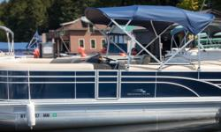 Offered for sale is a Pre-Loved 2017 Bennington 2375 GCW by Rivett's Marine Recreation & Service, Inc. In Old Forge, NY. Exterior Color - Regatta Blue with N/A accent Canvas - Regatta Blue Interior Upholstery Color - Napa Beige with Ivory accent