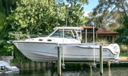 2017 315 Boston Whaler Conquest powered with Twin 350 Mercury Verados with 200 hours. No expense has been spared. Priced to sell immediately! Twin 350 Mercury Verados with warranty. (200 hours) Skyhook Kohler 7kw Generator with Sound Shield