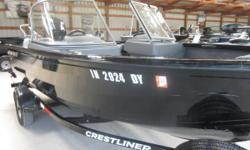 Price includes a Mercury 90EXLPTEFI 4-stroke with 75 hours and factory warranty left, aluminum prop,black painted bunk trailer with swing tongue, wind guides, ratchet tie downs, spare tire, swim platform ladder,MinnKota 70 PD DV2